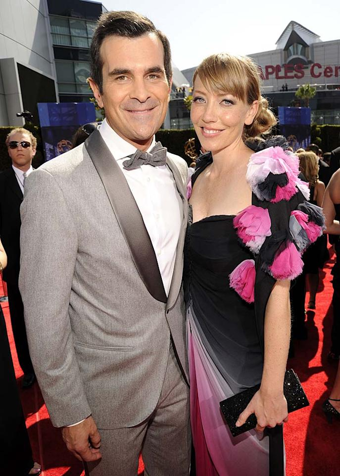 "Starting a family of his own, ""Modern Family's"" bumbling, lovable dad Ty Burrell and his real-life wife Holly adopted their first child, a baby girl called Frances, who was born on January 30. Mathew Imaging/<a href=""http://www.wireimage.com"" target=""new"">WireImage.com</a> - August 29, 2010"