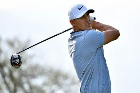FILE PHOTO: Mar 3, 2019; Palm Beach Gardens, FL, USA; Brooks Koepka plays his shot from the 18th tee during the final round of The Honda Classic golf tournament at PGA National (Champion). Mandatory Credit: Jasen Vinlove-USA TODAY Sports