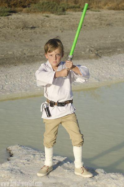 """<p>Kids of all ages will love wielding a lightsaber and paying homage to this hero from the franchise. </p><p><strong>Get the tutorial at <a href=""""http://morethanthursdays.com/diy-luke-skywalker-costume/"""" rel=""""nofollow noopener"""" target=""""_blank"""" data-ylk=""""slk:More Than Thursdays"""" class=""""link rapid-noclick-resp"""">More Than Thursdays</a>.</strong></p><p><strong><a class=""""link rapid-noclick-resp"""" href=""""https://www.amazon.com/gp/product/B00KWUQOXA/?tag=syn-yahoo-20&ascsubtag=%5Bartid%7C10050.g.21287723%5Bsrc%7Cyahoo-us"""" rel=""""nofollow noopener"""" target=""""_blank"""" data-ylk=""""slk:SHOP KARATE UNIFORM"""">SHOP KARATE UNIFORM</a><br></strong></p>"""