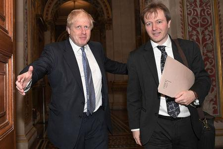 Britain's Foreign Secretary Boris Johnson meets with Richard Ratcliffe, the husband of Nazanin Zaghari Ratcliffe who is detained in Iran, at the Foreign & Commonwealth Office in London, Britain, November 15, 2017. REUTERS/Stefan Rousseau/Pool