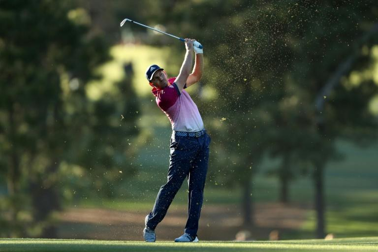 Sergio Garcia of Spain plays his second shot on the 17th hole during the third round of the 2017 Masters Tournament at Augusta National Golf Club on April 8, 2017 in Augusta, Georgia
