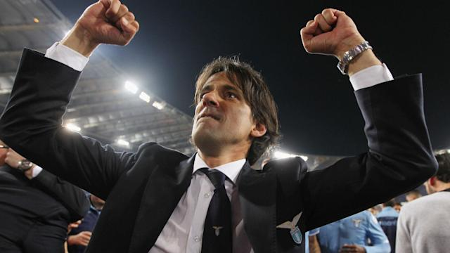 Ahead of his 41st birthday on Wednesday, Simone Inzaghi celebrated Lazio's Coppa Italia semi-final progress at the expense of rivals Roma.