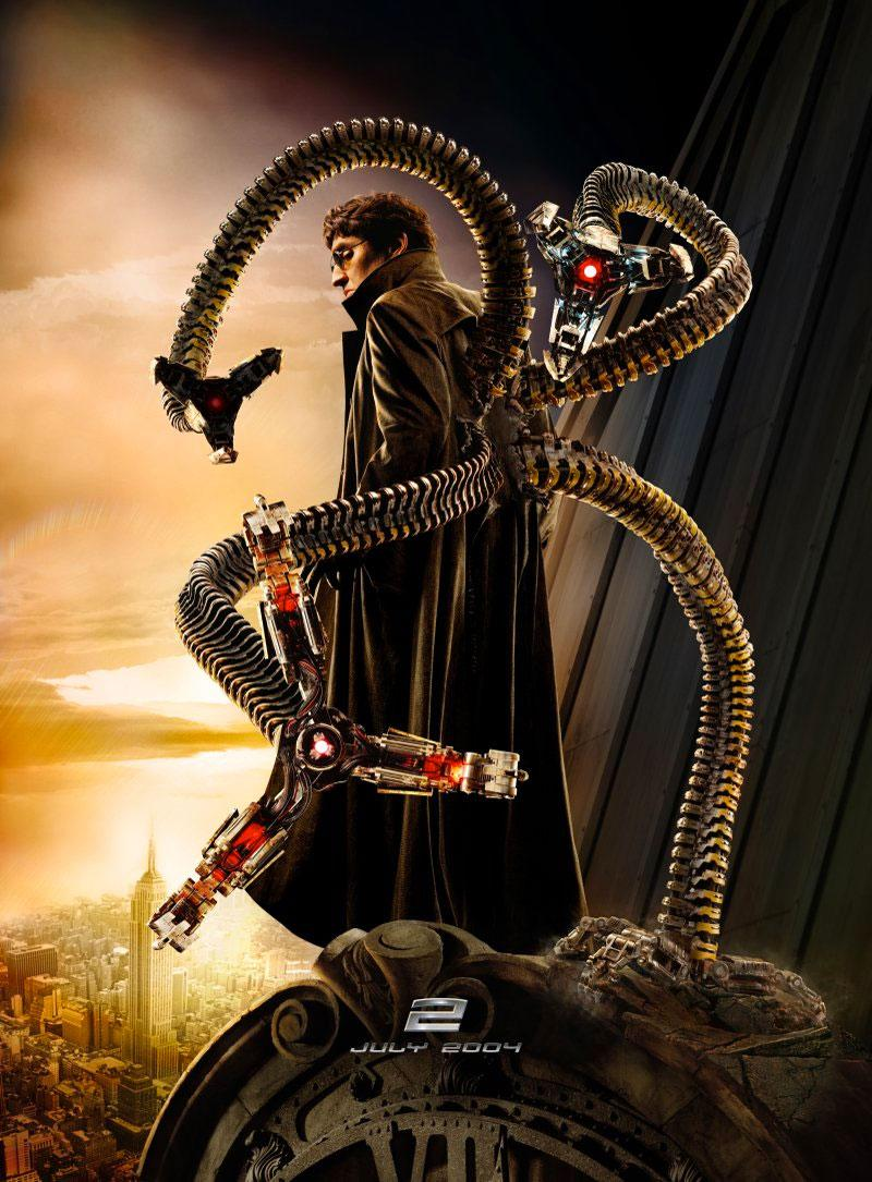 Alfred Molina as Doc Ock in a character poster for 2004's <i>Spider-Man 2</i>. (Sony Pictures)