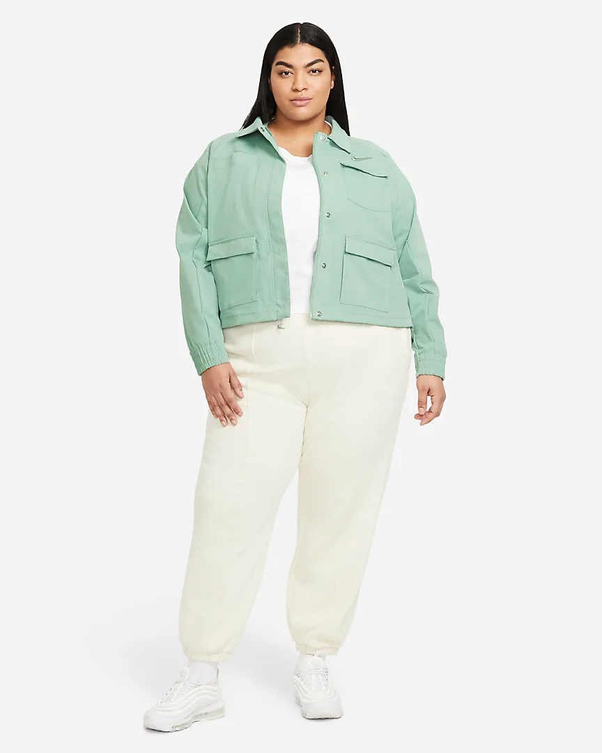 """<br><br><strong>Nike</strong> Plus-Size Nike Sportswear Jacket, $, available at <a href=""""https://go.skimresources.com/?id=30283X879131&url=https%3A%2F%2Fwww.nike.com%2Ft%2Fsportswear-swoosh-womens-jacket-plus-size-1b4wg6%2FDC6939-006"""" rel=""""nofollow noopener"""" target=""""_blank"""" data-ylk=""""slk:Nike"""" class=""""link rapid-noclick-resp"""">Nike</a>"""