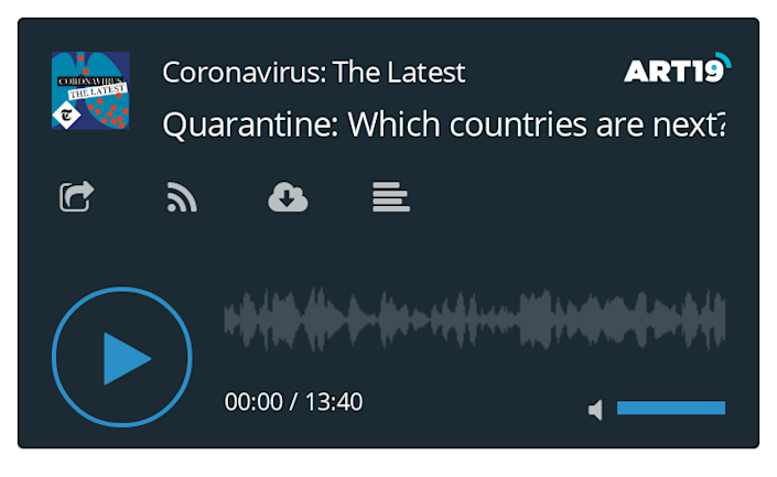 Coronavirus podcast - Quarantine: Which countries are next? 14/08/20 (doesn't autoupdate)
