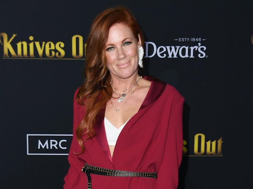 <p>Elisa Donovan at the premiere of 'Knives Out' on 14 November 2019 in Westwood, California</p> (Jon Kopaloff/Getty Images)