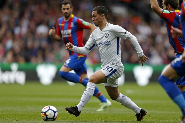 Eden Hazard has yet to score in eight appearances for Chelsea this term and still looked well short of his peak form when the Blues crashed to a shock 2-1 loss at Crystal Palace, at Selhurst Park in south London on October 14, 2017