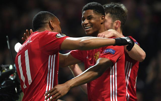 <span>Marcus Rashford scored Man Utd's winner against Anderlecht</span> <span>Credit: GETTY IMAGES </span>