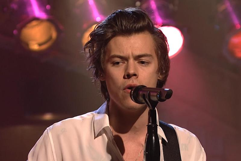 Accusations: Harry Styles performed the track on SNL: Saturday Night Live