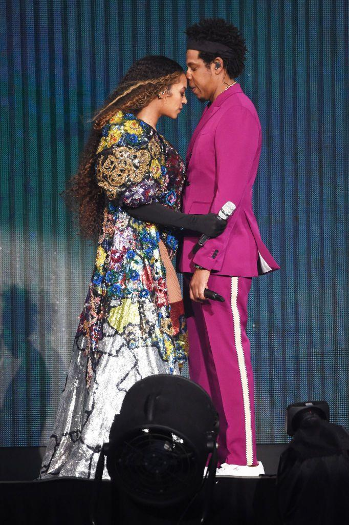 <p>Jay-Z and Beyoncé performing in South Africa at the Global Citizen concert.</p>