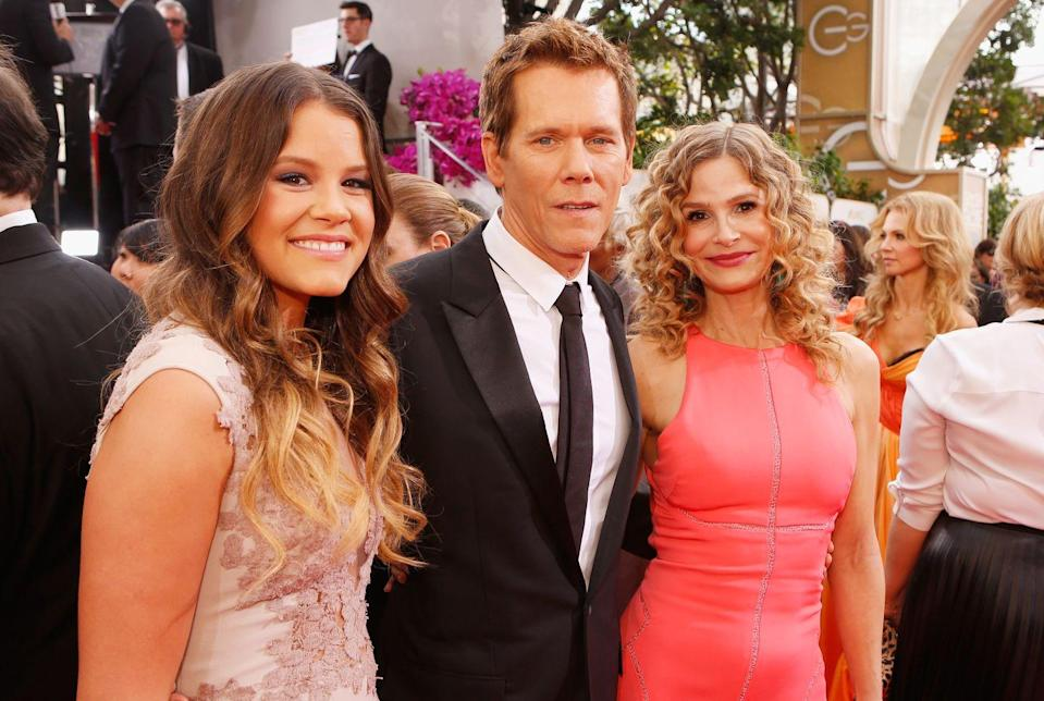 """<p><strong>Famous parent(s)</strong>: actors Kevin Bacon and Kyra Sedgwick<br><strong>What it was like</strong>: """"I'd been acting since I was little, but I always had this idea that I wanted to do something else,"""" she's <a href=""""https://parade.com/247250/linzlowe/meet-sosie-bacon-miss-golden-globe-2014/"""" rel=""""nofollow noopener"""" target=""""_blank"""" data-ylk=""""slk:said"""" class=""""link rapid-noclick-resp"""">said</a>. """"I was sort of a little bit resistant to it—almost in a typical teenage rebellious way. And then once I actually started doing it, I realized that it's just what I love...""""</p>"""