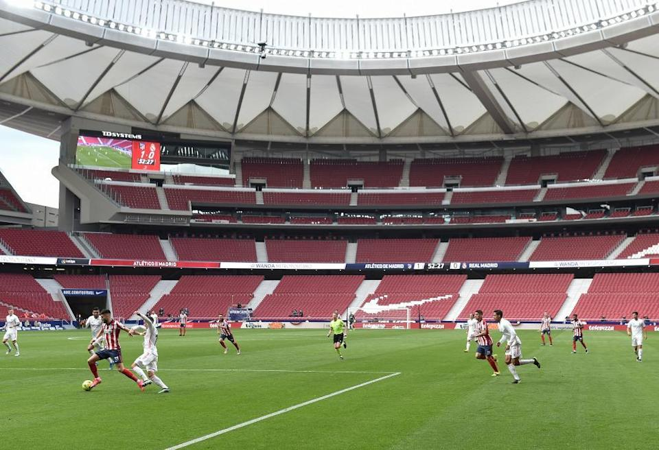A view of the action inside the Wanda Metropolitano.