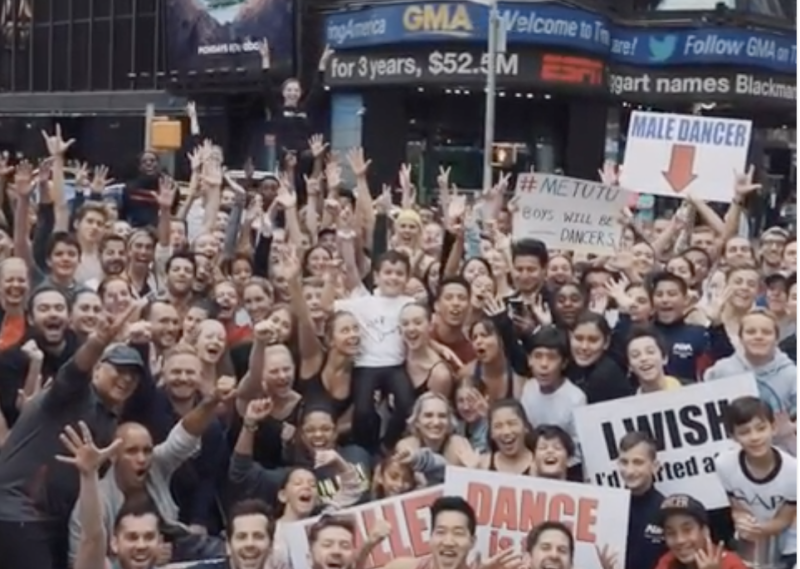 300 dancers in Times Square after Lara Spencer's Prince