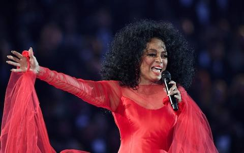US singer Diana Ross performs onstage during the 61st Annual Grammy Awards - Credit: AFP