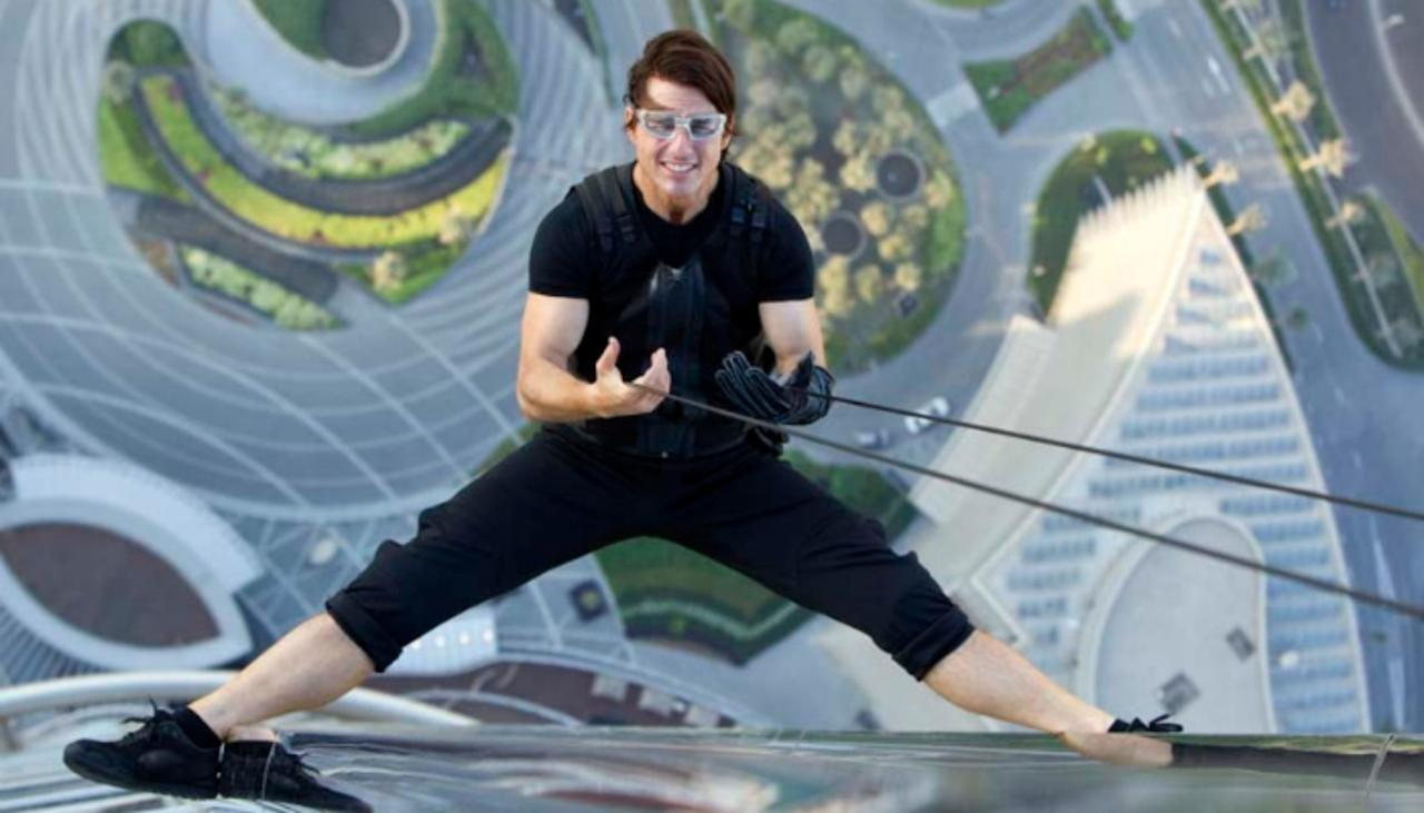 <p>Tom Cruise doesn't seem happy unless he's hanging off the edge of something, or leaping from one ledge to another from a massive great height.<br />But who else enjoys risking their life for the sake of cinema? Click through to find out! </p>