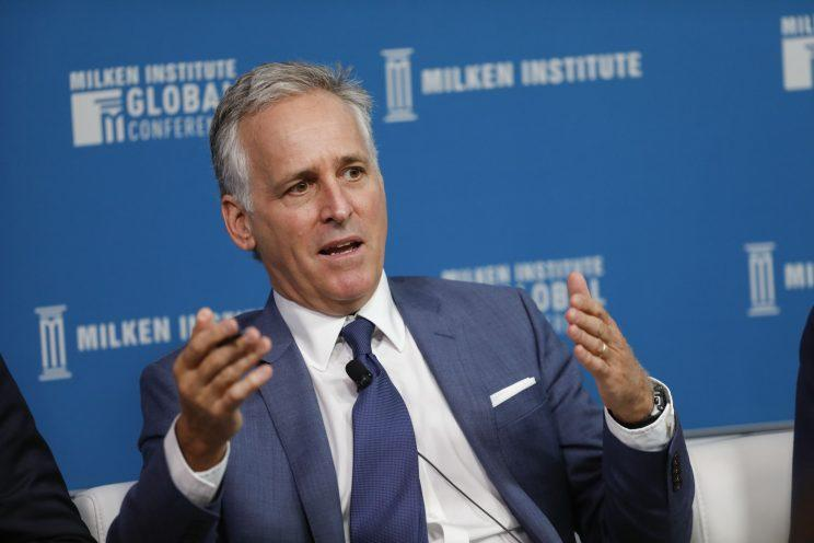 Richard Pops, chairman and chief executive officer of Alkermes Plc, speaks during the Milken Institute Global Conference in Beverly Hills, Ca., on May 1, 2017. (Photo: Patrick T. Fallon/Bloomberg via Getty Images)