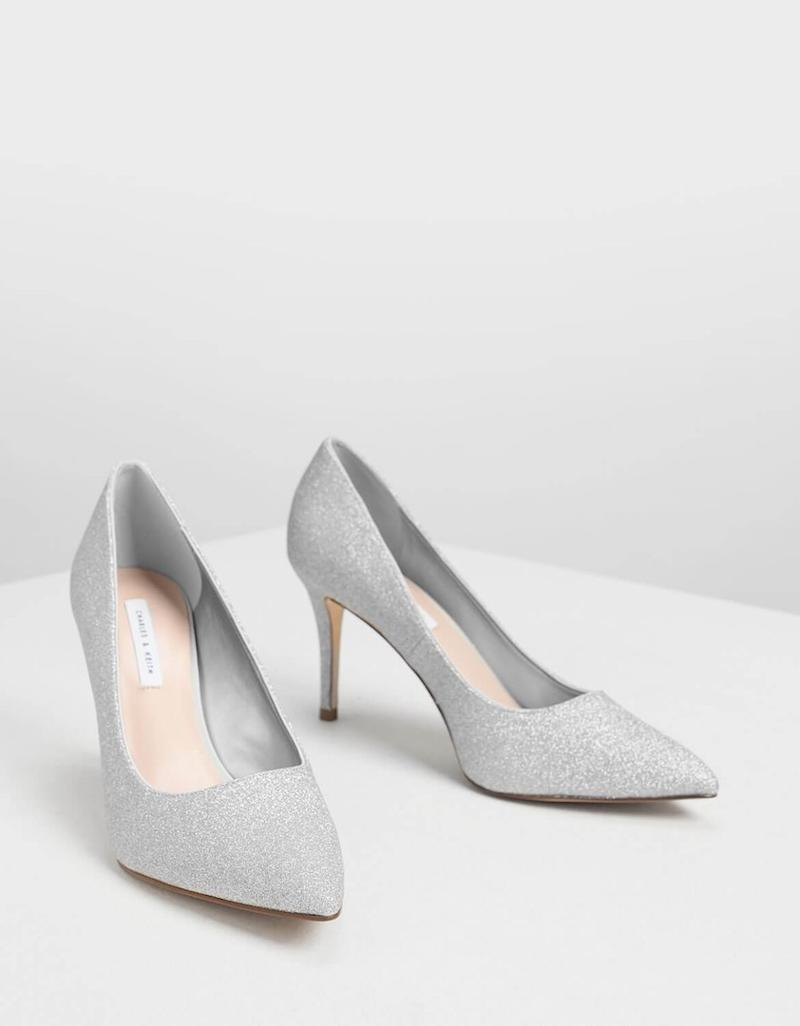 Charles and Keith glittery shoes