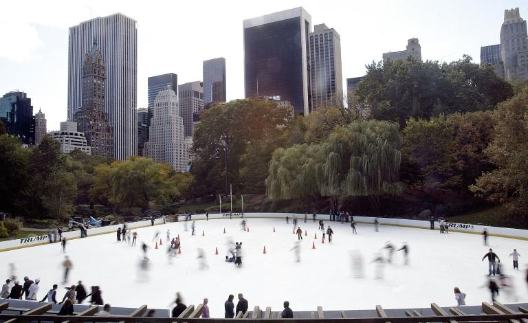 The Wollman Rink in Central Park, pictured in October 2006, is no longer branded with the name 'Trump' (AFP Photo/STEPHEN CHERNIN)
