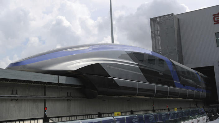 China Railway Rolling Stock Corporation's maglev bullet train - Credit: AP Images