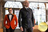 "<p>Eggsy (<a href=""https://www.yahoo.com/movies/tagged/taron-egerton"" data-ylk=""slk:Taron Egerton"" class=""link rapid-noclick-resp"">Taron Egerton</a>) travels to America to team up with the booze-slinging Statesmen (<a href=""https://www.yahoo.com/movies/tagged/jeff-bridges"" data-ylk=""slk:Jeff Bridges"" class=""link rapid-noclick-resp"">Jeff Bridges</a>, <a href=""https://www.yahoo.com/movies/tagged/halle-berry"" data-ylk=""slk:Halle Berry"" class=""link rapid-noclick-resp"">Halle Berry</a>, <a href=""https://www.yahoo.com/movies/tagged/channing-tatum"" data-ylk=""slk:Channing Tatum"" class=""link rapid-noclick-resp"">Channing Tatum</a>) to thwart the villainous Golden Circle (led by <a href=""https://www.yahoo.com/movies/tagged/julianne-moore"" data-ylk=""slk:Julianne Moore"" class=""link rapid-noclick-resp"">Julianne Moore</a>). Crazy action ensues. 