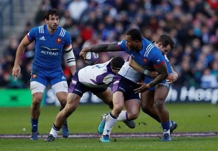 Rugby Union - Six Nations Championship - Scotland vs France - BT Murrayfield, Edinburgh, Britain - February 11, 2018 France's Virimi Vakatawa in action Action Images via Reuters/Lee Smith
