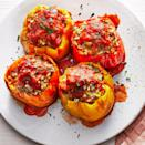 <p>Lean ground beef and veggies fill bell peppers in this easy Instant Pot dinner. Be sure to spoon the bright and flavorful tomato sauce over each pepper before serving. To make this even easier, choose peppers that will stand upright in your Instant Pot.</p>
