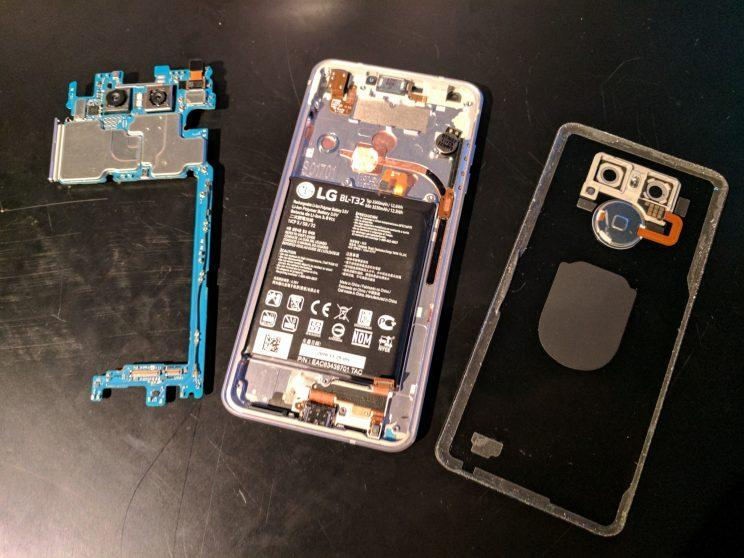The inside of the LG G6.