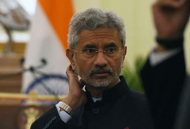 External Affairs Minister S Jaishankar at Hyderabad House, on February 8, 2020 in New Delhi.