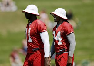 Roddy White (R) and Julio Jones give defenses plenty to worry about when they're healthy. (AP)