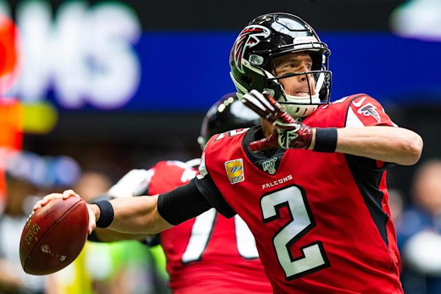 Matt Ryan will return to the Falcons' lineup this week. (Photo by Carmen Mandato/Getty Images)