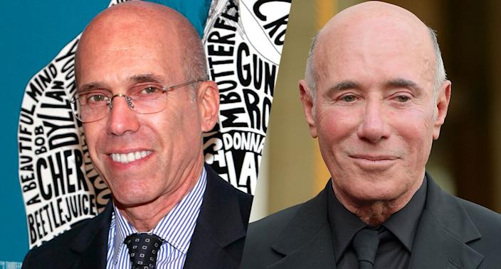Jeffrey Katzenberg and David Geffen. (Photos: Charles Eshelman/FilmMagic, Andrew Toth/Getty Images)