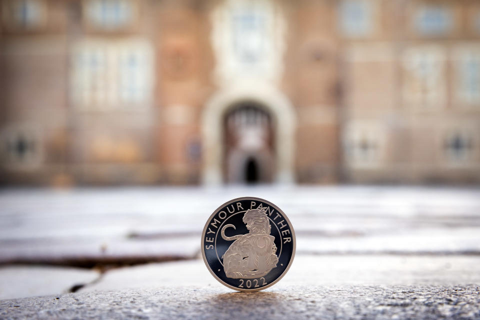 The new coin features the Seymour Panther – the heraldic symbol of Jane Seymour, Henry VIII's third wife (Matt Alexander/PA)