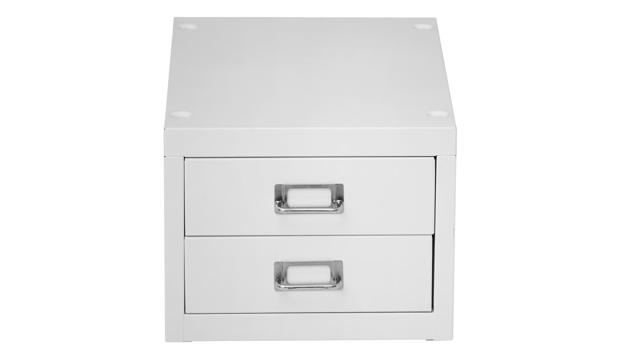 <p>Put your best professional foot forward by presenting an innovative and modern office space. Instead of piles of papers scattered across your desk, use the Spencer 2 Drawer Cabinet ($44.00) to keep workspace tidy and businesslike. The task-designed drawers are the perfect size for storing A4 documents and other office items that clutter up your space and give an unprofessional impression, while the range of vibrant powdercoated colours mean you can find a set to suit any colour palette and style. </p>
