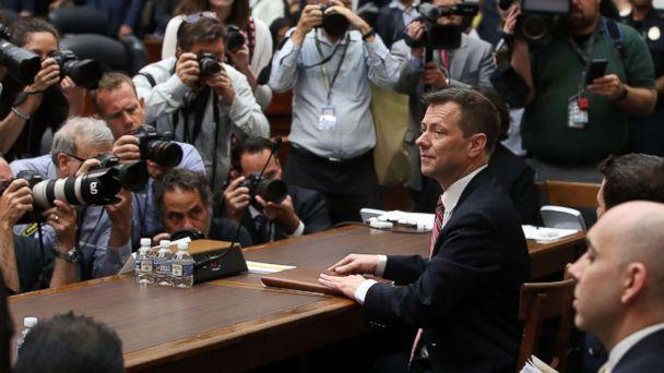 PHOTO: Deputy Assistant FBI Director Peter Strzok waits to testify before a joint committee hearing of the House Judiciary and Oversight and Government Reform committees, July 12, 2018 in Washington. (Mark Wilson/Getty Images)