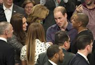 <p>The British royals also managed to meet America's royals when they ran into Beyoncé and JAY-Z at a Brooklyn Nets game. </p>