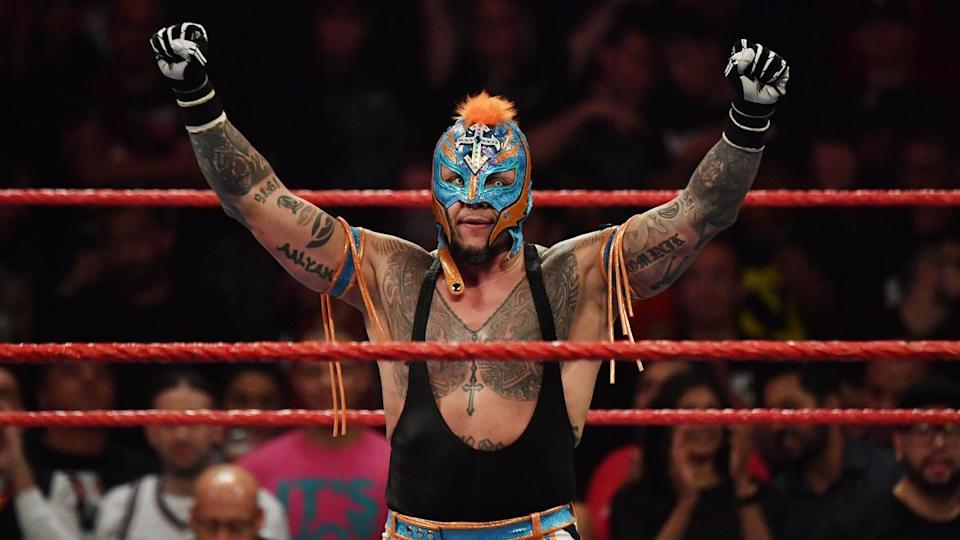 """WWE star Rey Mysterio is seen during an episode of """"Monday Night Raw."""" (Photo courtesy of WWE)"""