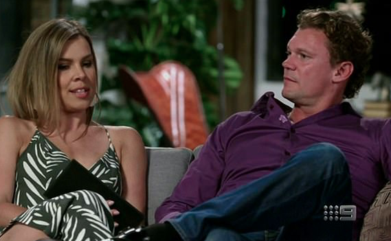 Carly and Justin also decided to stay together and make it work despite a lack of intimacy. Source: Nine