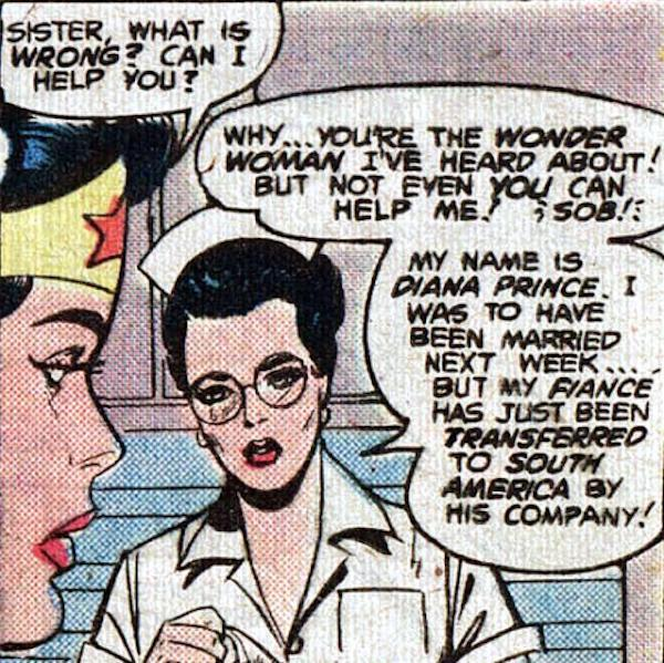 Wonder Woman meets Diana Prince. (Credit: DC Comics)