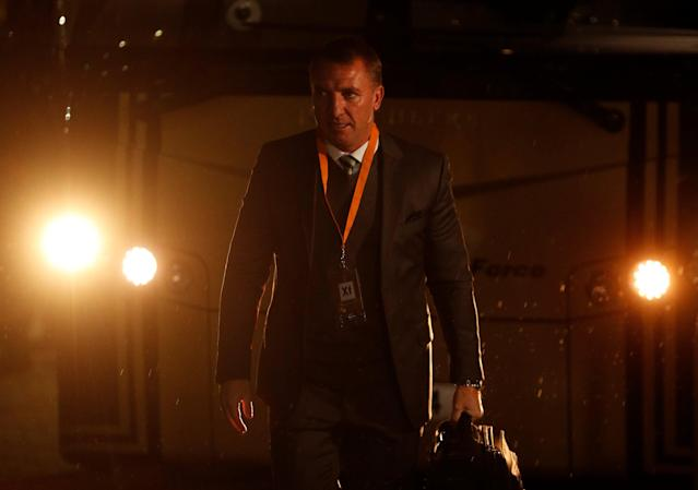 Soccer Football - Europa League Round of 32 First Leg - Celtic vs Zenit Saint Petersburg - Celtic Park, Glasgow, Britain - February 15, 2018 Celtic manager Brendan Rodgers before the match Action Images via Reuters/Lee Smith