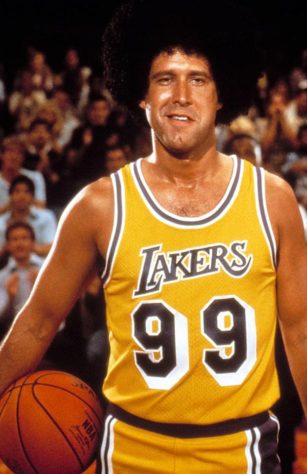 "<b>Starting Small Forward:</b><br>Irwin F. Fletcher (Chevy Chase) in ""Fletch"" (1985) -- He may only be 6'5"", but he's 6'9"" with the afro. But don't take our word for his skills, <a href=""http://www.youtube.com/watch?v=i7AUpGXLDdk"">just ask Kareem Abdul Jabbar</a>, ""He boxes out for us, gets the tough rebounds, and does the tough things we need to win."" <br>"