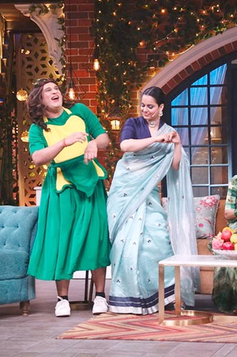 kangana ranaut promotes panga on the kapil sharma show