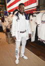 Fencer Daryl Homer participates in the Team USA Tokyo Olympic closing ceremony uniform unveiling at the Ralph Lauren SoHo Store on April 13, 2021, in New York. Ralph Lauren is an official outfitter of the 2021 U.S. Olympic Team. (Photo by Evan Agostini/Invision/AP)