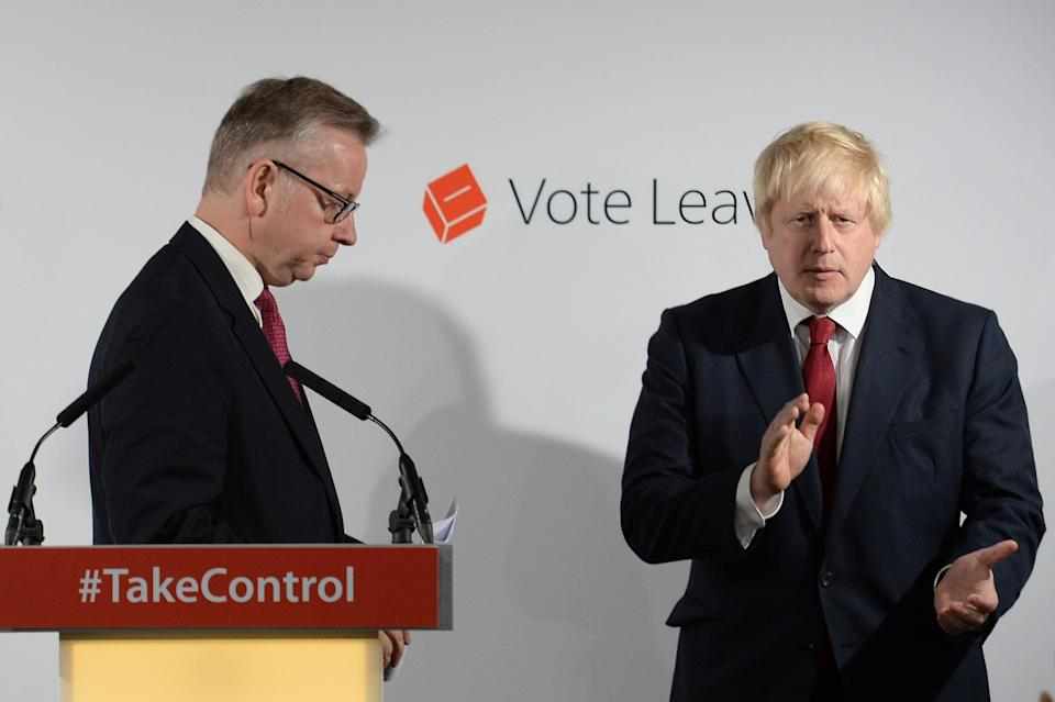 Gove torpedoed Johnson's 2016 Tory leadership bid after the pair won the EU referendum (Photo: PA Archive/PA Images)