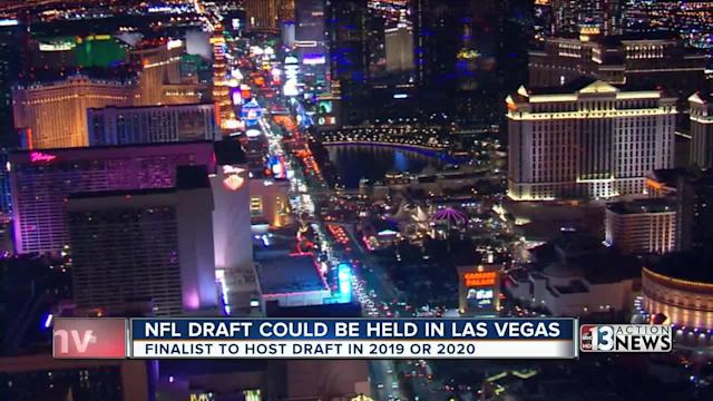 According to ESPN's Adam Schefter, Las Vegas is one of five finalists for the 2019 and 2020 NFL Draft.