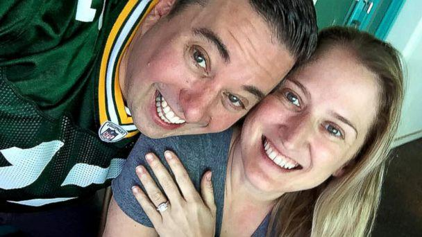 PHOTO: Green Bay super fan Ryan Holtan-Murphy plans to take his fiancee's last name, Packer, when they wed in June. (Courtesy of Ryan Holtan-Murphy)