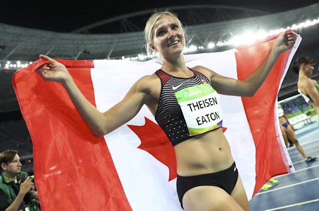 "<p>After struggling on the first day, the two-time world silver medallist from Humboldt, Sask., fought back with strong performances in the long jump, javelin and 800-metre events to win the bronze medal. Theisen-Eaton was proud of herself, which just a year ago might not have been the case. It was at the 2015 World Championships in Beijing where Theisen-Eaton unraveled, settling for silver when the feeling was that she was almost assured of the gold. She described the result as catastrophic and a failure. Rio threatened to be even worse, but a lot can change in a year.""Going into this, I probably wouldn't have said, 'Yeah, I want a bronze medal,' but I'm really, really happy with it,"" Theisen-Eaton shared with Yahoo Canada Sports. ""The Olympics is tough. If it wasn't tough just to get here there would be a lot more people competing in it."" Click <a href=""https://ca.sports.yahoo.com/blogs/eh-game/brianne-theisen-eaton-draws-from-her-past-and-rallies-for-heptathlon-bronze-055039844.html"" data-ylk=""slk:here"" class=""link rapid-noclick-resp newsroom-embed-article"">here</a> to read more. </p>"