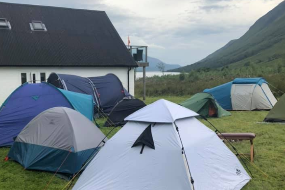 There were 10 tents pitched outside the house: Facebook/Sheri Murphy