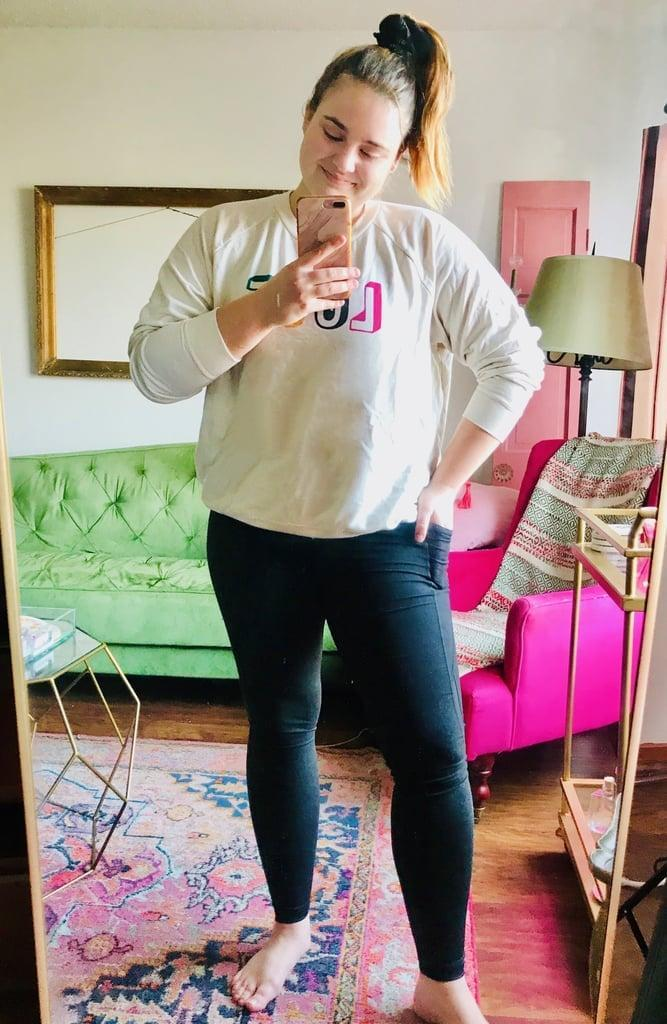 """<p><strong>The item:</strong> <span>Old Navy Mid-Rise Elevate Leggings</span> ($30) </p><p><strong>What our editor said: </strong>""""Not only are these leggings so comfy, they also smooth out my torso really well. Bonus points: they include handy pockets on the legs that perfectly fit my phone and keys. They're my new go-tos that I love so much, I'm going to order some more. The best news of all is that they're on sale today! Sizes are already selling out fast, so I suggest you get your hands on them ASAP."""" - MCW </p> <p>If you want to read more, here is the <a href=""""https://www.popsugar.com/fitness/old-navy-leggings-review-47431653"""" class=""""link rapid-noclick-resp"""" rel=""""nofollow noopener"""" target=""""_blank"""" data-ylk=""""slk:complete review"""">complete review</a>.<br></p>"""