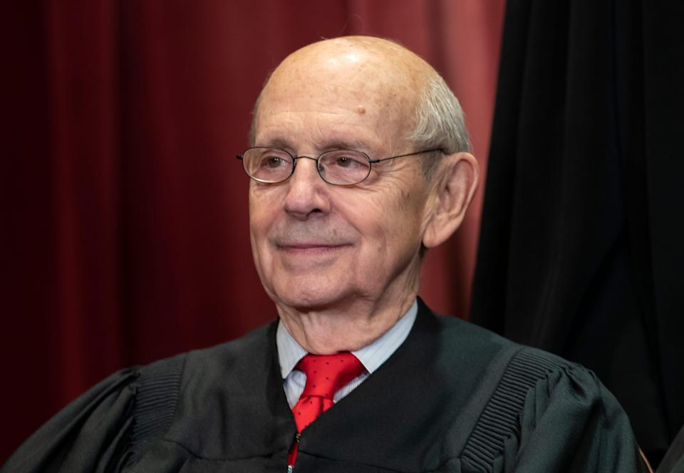 """Supreme Court Justice Stephen Breyer asserted in a wide-ranging address Tuesday that """"alteration"""" to the court's structure, such as adding justices, would undermineconfidence in the court's decisions."""