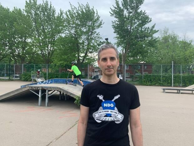 It was when Jonathan Stein started driving his son to other skate parks in the Montreal area that he realized just how bad the one in Benny Park really is.  (Chloë Ranaldi/CBC - image credit)